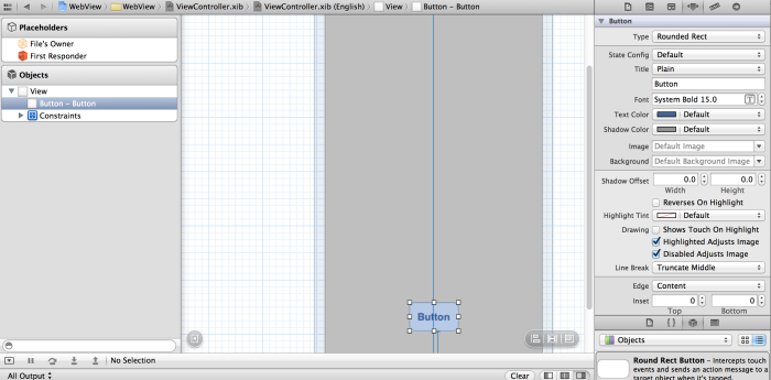 RoundRectButton komponentinin ekrana taşınması
