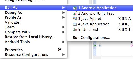 Android Uygulaması Başlatmak
